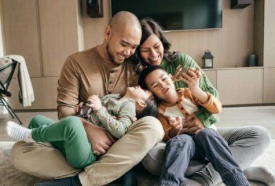 Family enjoying the holidays